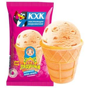 Купить оптом Ладушка, Любимый с детства вкус мороженого крем-брюле с орешками. Теперь в новой фасовке!
