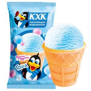 Пингвин Гоша, Ванильное мороженое со вкусом тутти-фрутти и веселым пингвином на этикетке.