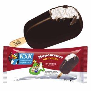 Вятушка, Мороженое эскимо пломбир ванильный  в шок. глазури