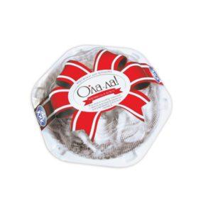 Ола-ла!, Нежный ванильный пломбир с шоколадной карамелью и кокосовой стружкой - это праздник, который вы можете подарить себе и близким в любую минуту.