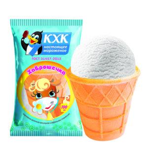 Хаврошечка, Легкое молочное мороженое – полезный и питательный десерт, который подходит для тех, кто следит за фигурой. Всего 0,5 % жира и 75 ккал в стаканчике!