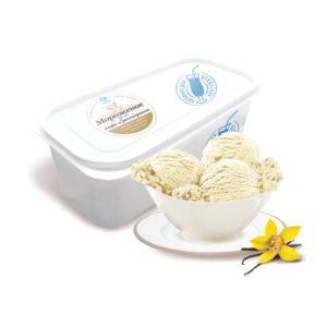 Ванильное мороженое.
