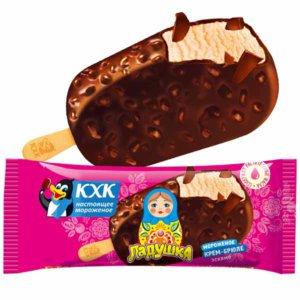 Ладушка, Тающий крем-брюле в хрустящей шоколадной глазури с орешками.  Лидер продаж!