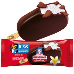 Купить оптом Мальвина, Традиционный ванильный пломбир и хрустящая шоколадная глазурь сделали это эскимо популярным среди детей и взрослых.