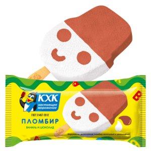 Пломбир, Двухслойный ванильно-шоколадный пломбир в забавной форме. Любимое мороженое детей и взрослых, которое выпускается с 1986 года.