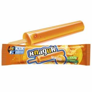 Хладик, Яркий вкус лета подарит освежающий фруктовый лед со вкусом сочного апельсина. 0% жирности!