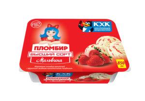 Мальвина, Традиционный ванильный пломбир с клубничным джемом, знакомый и любимый с детства вкус.
