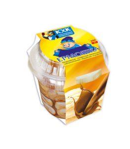 Купить оптом Ермошка, Сливочное мороженое с вареной сгущенкой  в большом пластиковом стаканчике.