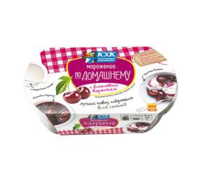 По-домашнему, Настоящий пломбир из цельного молока и сливочного масла с вишневым вареньем - это прекрасный повод собраться всей семьей.