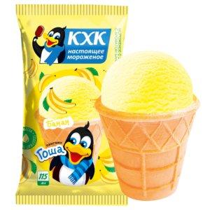Пингвин Гоша, Ванильное мороженое с ярким банановым вкусом и веселым пингвином на этикетке