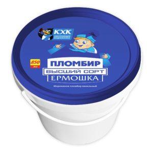 Ермошка, Пломбир высшего сорта, изготовлен по традиционному рецепту из цельного коровьего молока и сливочного масла.  Обладатель золотой медали Всероссийского конкурса «100 лучших товаров России».