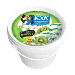 Спортивное, Легкое сливочное мороженое с бодрящим джемом киви - идеальное содержание в идеальной форме!