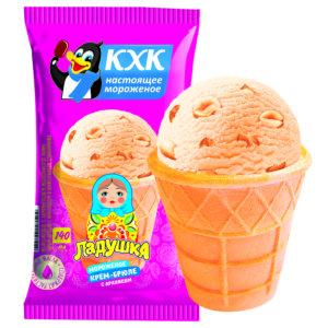 Ладушка, Любимый с детства вкус мороженого крем-брюле с орешками. Теперь в новой фасовке!