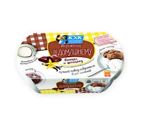 По-домашнему, Незабываемое сочетание настоящего ванильного и шоколадного пломбира - это прекрасный повод собраться всей семьей.