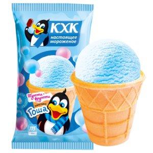Пингвин Гоша, Мороженое со вкусом тутти-фрутти и веселым пингвином на этикетке.