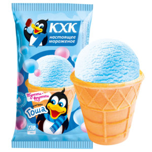 Купить оптом Пингвин Гоша, Мороженое со вкусом тутти-фрутти и веселым пингвином на этикетке.