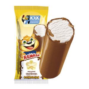 Купить оптом Ням-Ням, Мороженое батончик из ванильного мороженого в нежной шоколадной глазури.