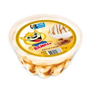 Ням-Ням, Ванильное мороженое с мягкой карамелью в большом пластиковом контейнере