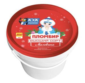 Мальвина, Традиционный ванильный пломбир, знакомый и любимый с детства вкус в новогодней праздничной упаковке.