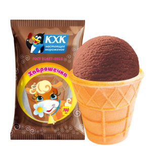 ХАВРОШЕЧКА, Шоколадное молочное мороженое – полезный и питательный десерт, который подходит для тех, кто следит за фигурой. Всего 0,5 % жира и 75 ккал в стаканчике!