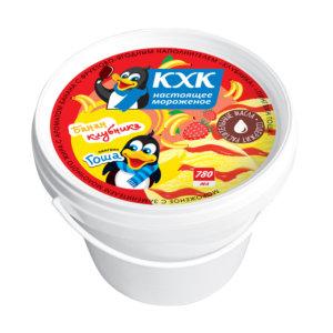 Купить оптом Пингвин Гоша, Мороженое со вкусом банана и джемом клубники