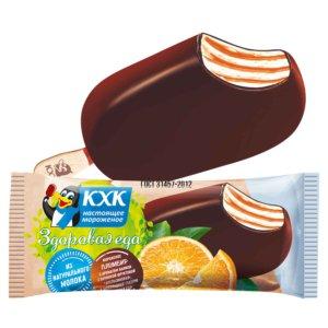 Купить оптом ЗДОРОВАЯ ЕДА, ЗДОРОВАЯ ЕДА пломбир апельсин в шоколадной глазури
