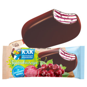 ЗДОРОВАЯ ЕДА, ЗДОРОВАЯ ЕДА пломбир вишня-черешня в шоколадной глазури